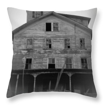 Cold Spring Hotel Throw Pillow