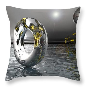 Cold Steele Throw Pillow