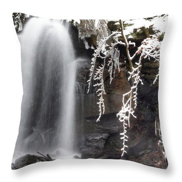 Cold Water Rush Throw Pillow by David Birchall
