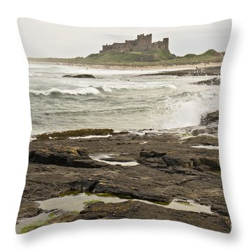 Cold Waves Of Northumberland Throw Pillow