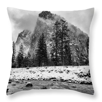 Cold Winter Morning Throw Pillow by Cat Connor
