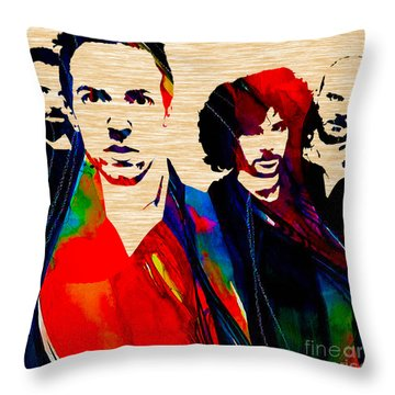 Coldplay Collection Throw Pillow by Marvin Blaine