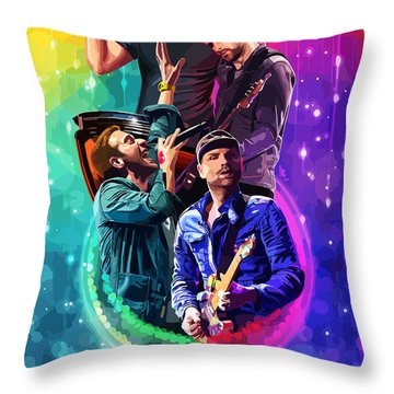 Coldplay Mylo Xyloto Throw Pillow
