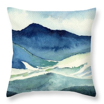 Coldscape Throw Pillow by Katherine Miller