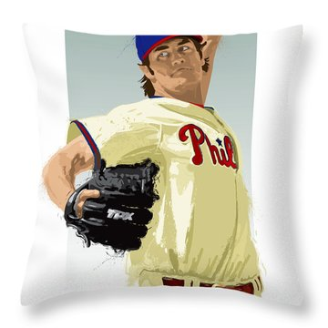 Cole Hamels Throw Pillow