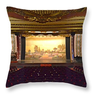 Throw Pillow featuring the photograph Coleman Theatre by Utopia Concepts