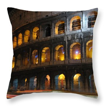 Coleseum Throw Pillow