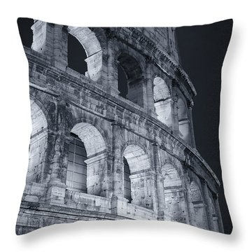 Colosseum Before Dawn Throw Pillow