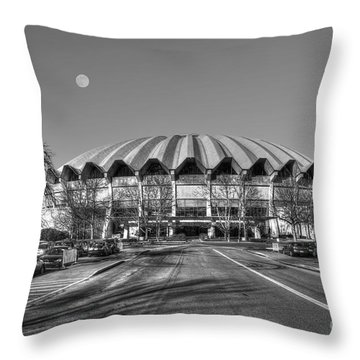 Coliseum Black And White With Moon Throw Pillow by Dan Friend