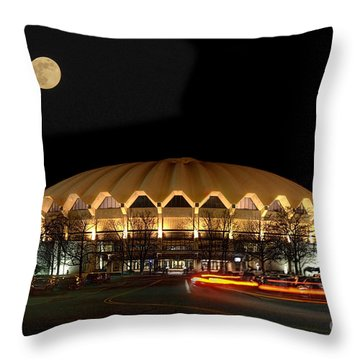 Coliseum Night With Full Moon Throw Pillow