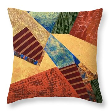 Throw Pillow featuring the painting Collaboration by Linda Bailey