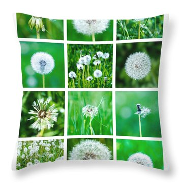 Collage June - Featured 3 Throw Pillow