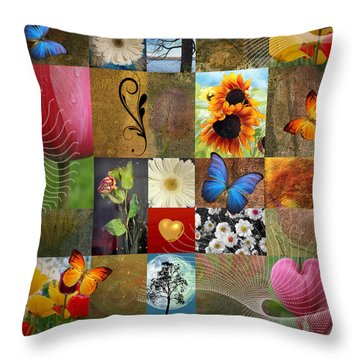 Collage Of Happiness 2 Throw Pillow