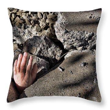 Collapse Throw Pillow