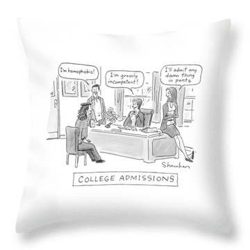 College Admissions Throw Pillow