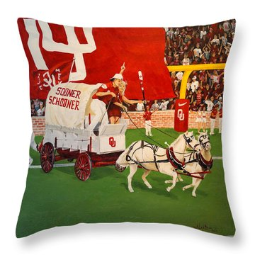 College Football In America Throw Pillow