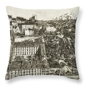 College Henri Iv And The Lycee Napoleon Throw Pillow