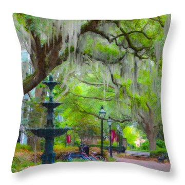 College Of Charleston Throw Pillow