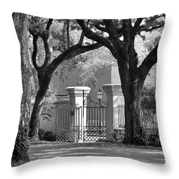 College Of Charleston Gate Throw Pillow