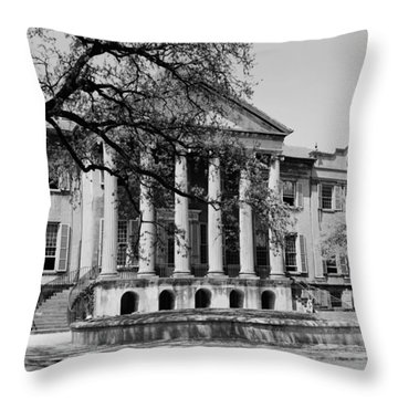 College Of Charleston Main Building 1940 Throw Pillow
