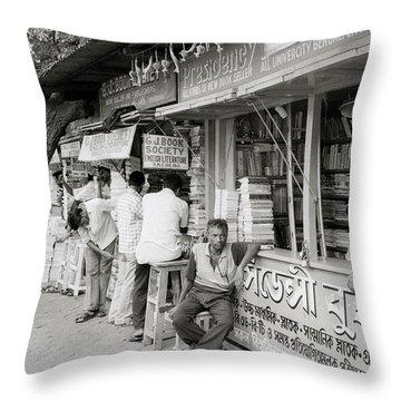College Street Calcutta  Throw Pillow