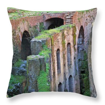 Throw Pillow featuring the photograph Colleseum Levels by Debby Pueschel