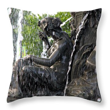 Colline Parlamentaire Building Throw Pillow by Valentino Visentini