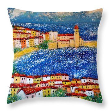 Collioure Throw Pillow