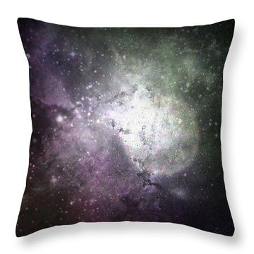 Collision Throw Pillow by Cynthia Lassiter