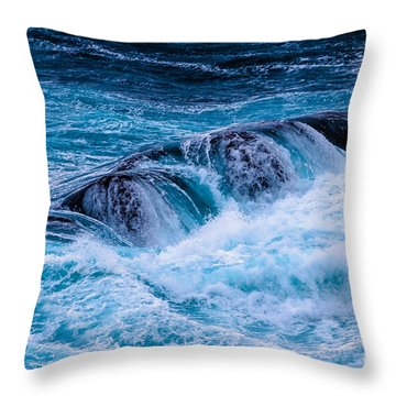 Collision Throw Pillow by Edgar Laureano