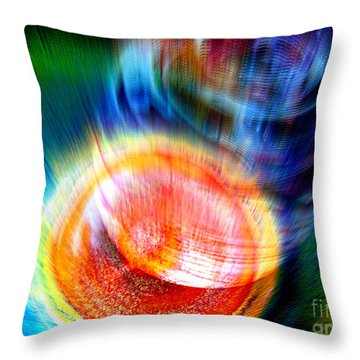 Throw Pillow featuring the digital art Collision by Irina Hays