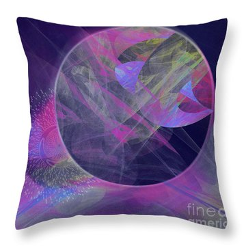 Throw Pillow featuring the digital art Collision by Victoria Harrington