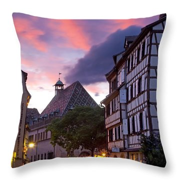 Colmar Twilight Throw Pillow by Brian Jannsen