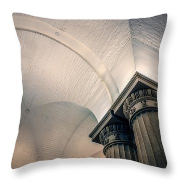 Throw Pillow featuring the photograph Columns by Rob Sellers