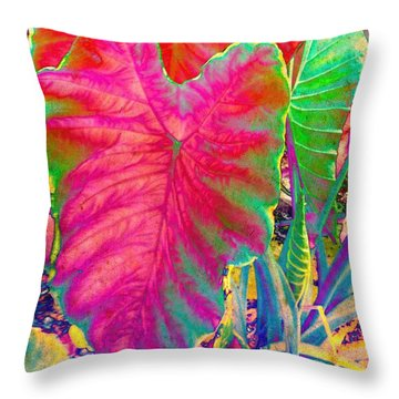 Colocasia Throw Pillow