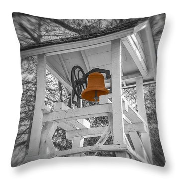 Coloma Church Bell Throw Pillow