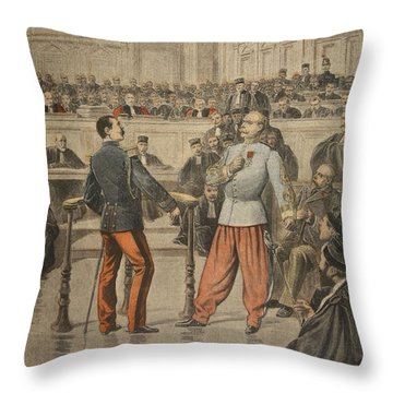 Colonel Henry And Lieutenant-colonel Throw Pillow by Henri Meyer