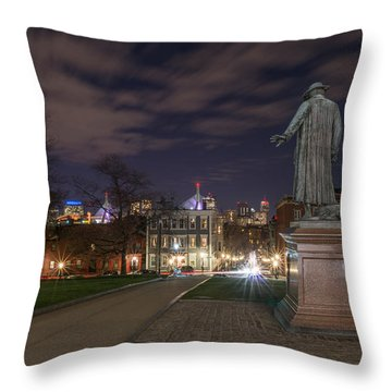 Colonel William Prescott Throw Pillow