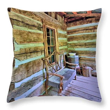 Colonial Front Porch Basics Throw Pillow by Gordon Elwell