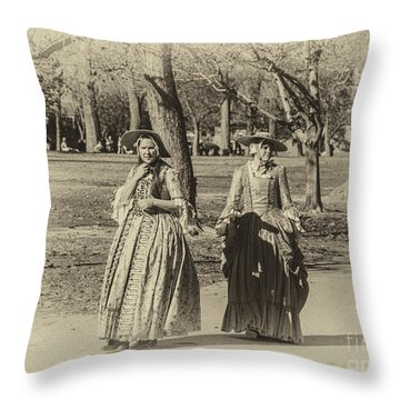 Colonial Ladies I Throw Pillow