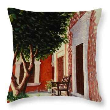 Colonial Patil,peru Impression Throw Pillow