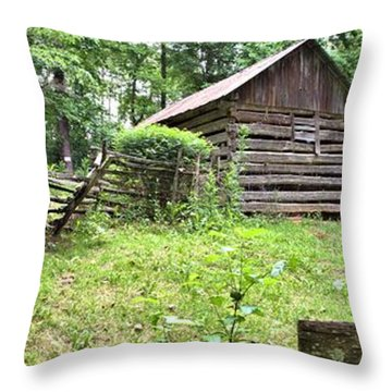 Colonial Village Throw Pillow