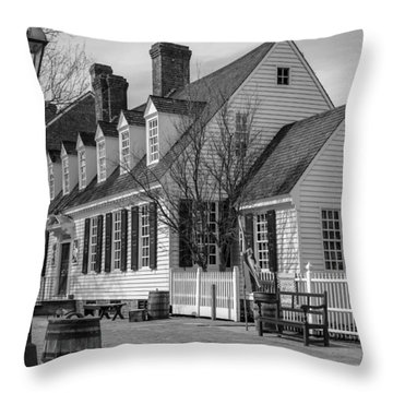Throw Pillow featuring the photograph Colonial Williamsburg  by Trace Kittrell