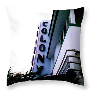 Throw Pillow featuring the photograph Colony Polaroid by Gary Dean Mercer Clark