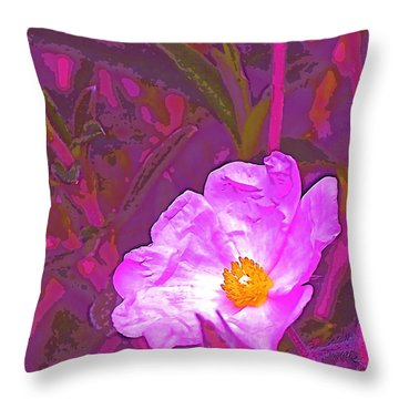 Color 2 Throw Pillow by Pamela Cooper
