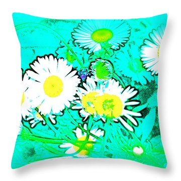 Color 7 Throw Pillow by Pamela Cooper