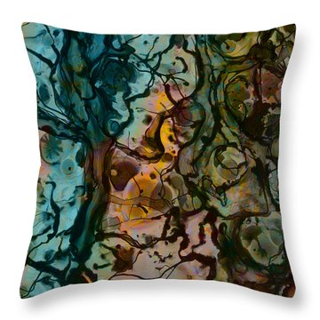 Color Abstraction Xvi Throw Pillow
