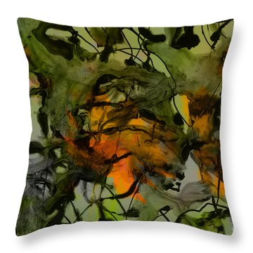 Color Abstraction Xvii Throw Pillow by David Gordon