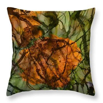 Color Abstraction Xx Throw Pillow by David Gordon
