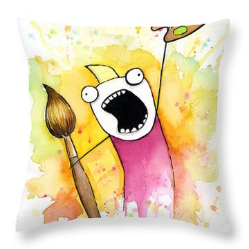 Color All The Water Throw Pillow
